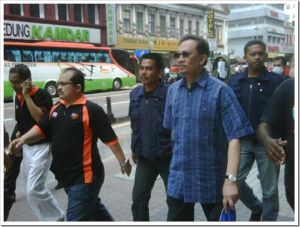 Dato Seri Anwar Ibrahim marches in protest of ISA