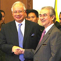 Najib and his predecessor, Abdullah Badawi