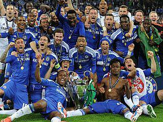 European League Cup Champions 2012 Englands Chelsea