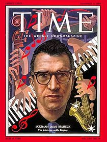 Dave Brubeck on Cover of Time Magazine-1954
