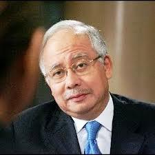 Najib frowning