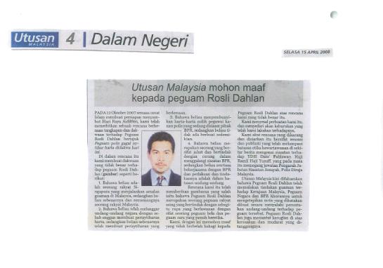 Utusan Malaysia's Apology