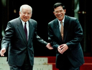 sihanouk-and-hun-sen