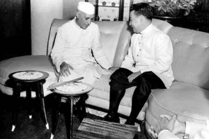 Sihanouk and Nehru