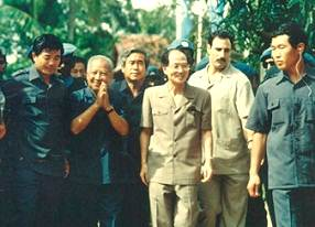 Sihanouk and UNTAC Chief