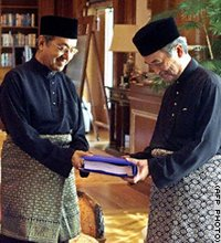 Dr M and Badawi-Handing Over