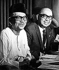 Tun Razak with Tunku