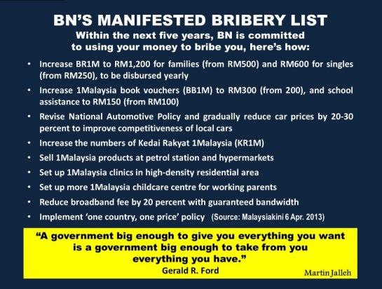 Martin Jalleh's Response to GE-13 UMNO-BN Manifesto