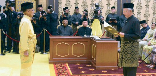 Najib takes oath of office