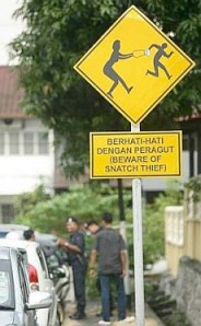 Bag Snatching sign