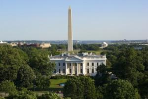White House and the Washington Monument, Washington D.C, USA
