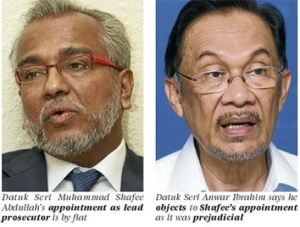 Datuk Seri Muhammad Shafee Abdullah as public prosecutor in the appeal against Datuk Seri Anwar Ibrahim's Sodomy II acquittal.