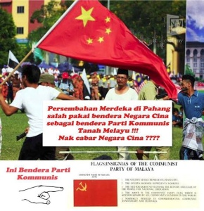 Just like Hishammudin who doesn't understand Foreign policy, our youth don't know how to distinguish PCM and China flag !