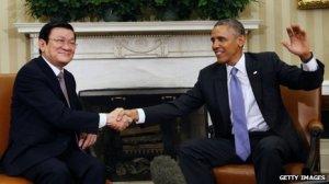 Sang and Obama