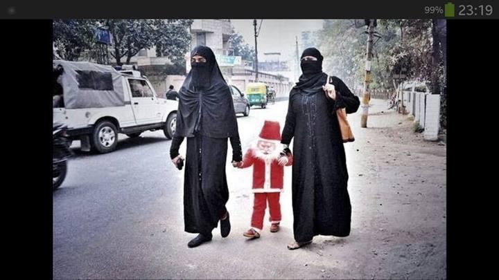 Seen in India. Christmas, like Ramadan, is the perfect interfaith footbridge for Muslim-Christian fellowship.