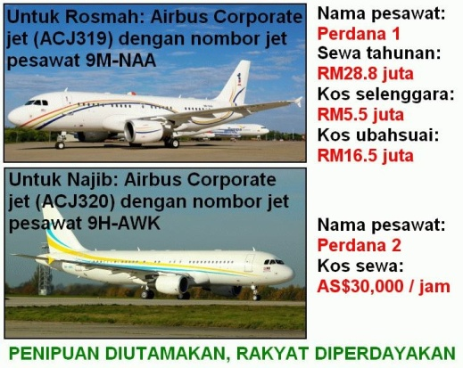 Image result for Najib uses Malaysian Government executive jet
