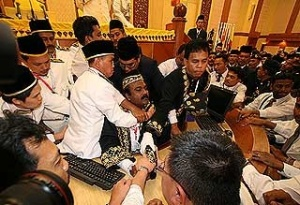 Sivakumar is half pushed, half pulled out of the chambers. He was forcibly removed from the speaker's chair .