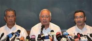 Hisham, Najib, and Muhiyuddin