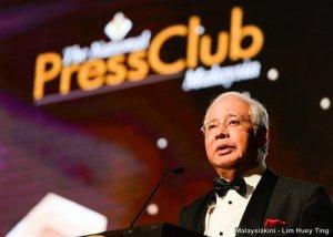 Najib at the Press Club