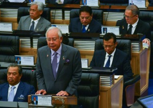 Prime Minister Najib in Parliament