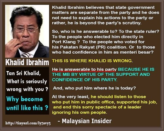 "Selangor Menteri Besar Abdul Khalid Ibrahim has hit back at PKR, warning the party not to victimise him as its disciplinary board's recent demands ""are unreasonable and suspicious""."