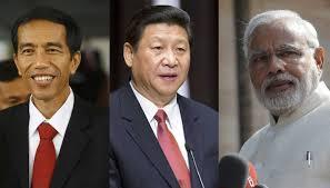 Jokowi,Xi, Modi