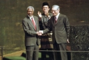 Razali Ismail with Kofi Annan and Boutros Boutros Ghali at the UNGA