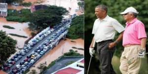 Floods, Obama and Najb
