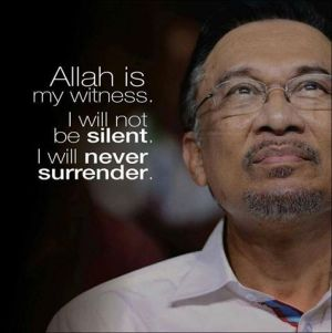 Anwar will never surrender