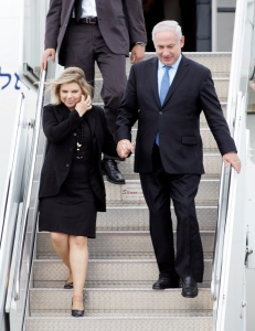 Israeli Prime Minister Benjamin Netanyahu arrives with his wife Sara in Ottawa