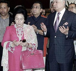 Rosmah with Najib