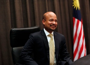 Kanda, newly appointed president and group executive director of Malaysia's state investor 1Malaysia Development Bhd, poses for photographs in Kuala Lumpur