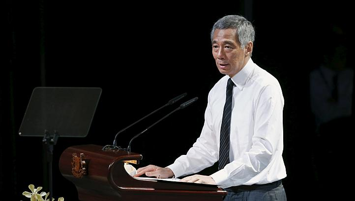 Lee Hsien Loong at LKY's funeral