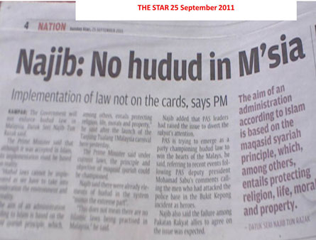 Why No To Hudud Law For Malaysia Din Merican The Malaysian Dj Blogger