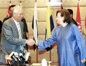 Zeti and Najib