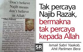 Ismail Sabri on Najib