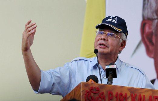 TAWAU 10 May 2015. Perdana Menteri, Datuk Seri Najib Razak ketika Perhimpunan Solidariti Rakyat Sabah di Padang Perbandaran Tawau. NSTP/Datu Ruslan Sulai