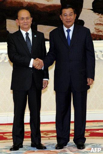 Thein-Sein-and-Hun-Sen