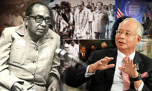 Image result for Tun Razak and Najib Razak