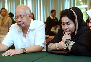 Dejected Najib with FLOM