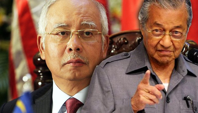 Image result for Between Mahathir and Najib Razak