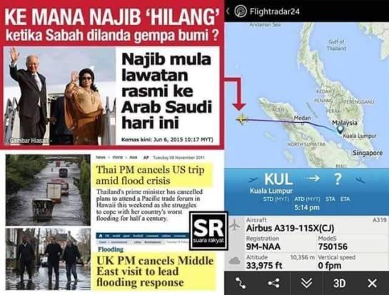 Najib's Saudi trip