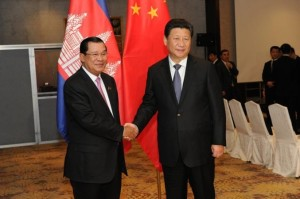 HUN SEN AND CHINESE PRESIDENT