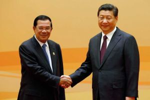 Xi and Cambodia's Hun Sen