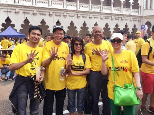 Image result for Din Merican and Dr. Kamsiah at Bersih 4.0