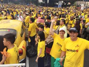 Din and Kamsiah at Bersih4.0