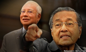 Mahathir and Najib in the same UMNO pod