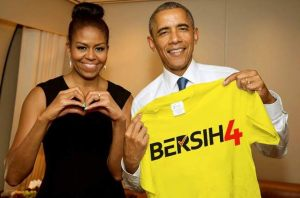 Obama and Michelle Bersih 4.0