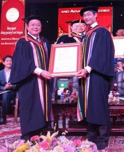 Dr Kao Kim Hourn and Dr. Phillip Rosler