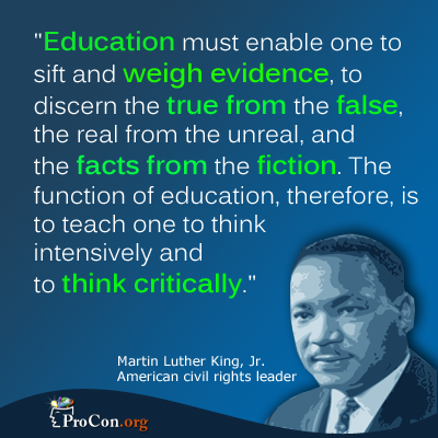 Martin Luther King on Critical Thinking